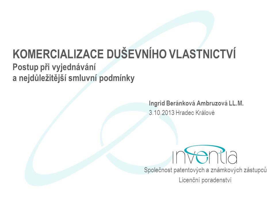 Společnost patentových a známkových zástupců Licenční poradenství