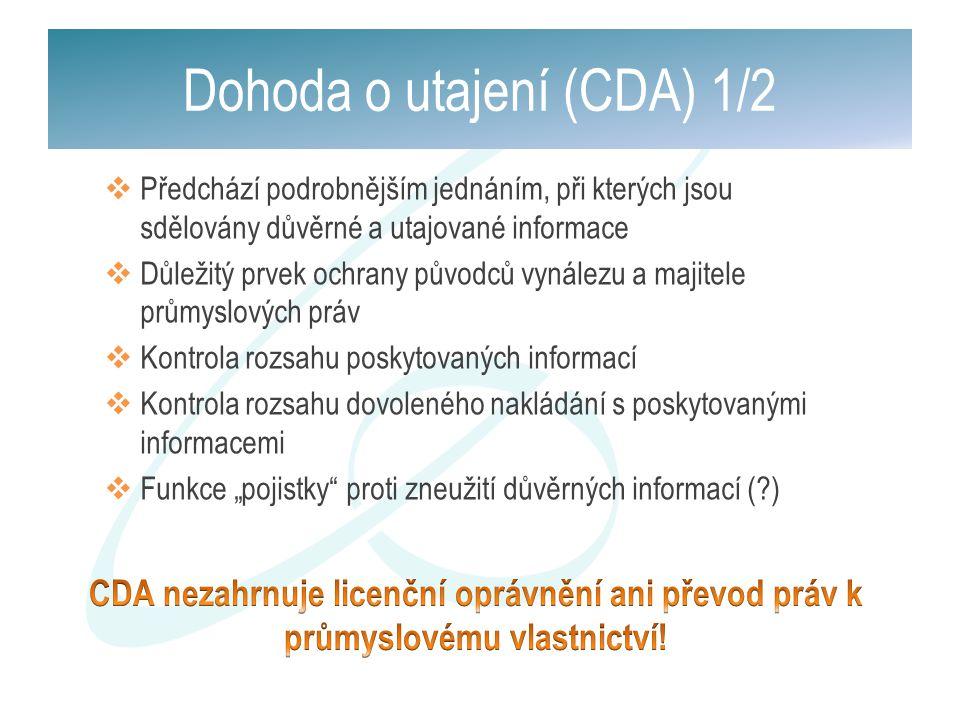 Dohoda o utajení (CDA) 1/2