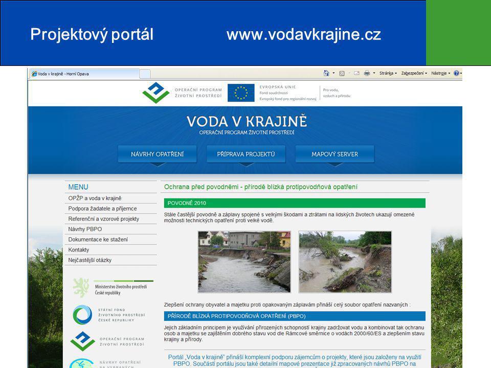 Projektový portál www.vodavkrajine.cz