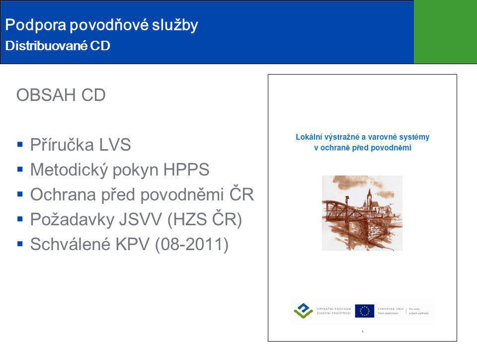 Ochrana před povodněmi ČR Požadavky JSVV (HZS ČR)