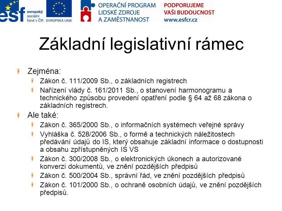 Základní legislativní rámec