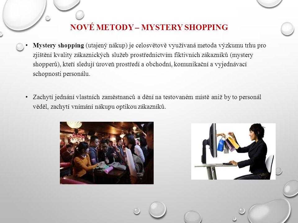 Nové metody – Mystery Shopping