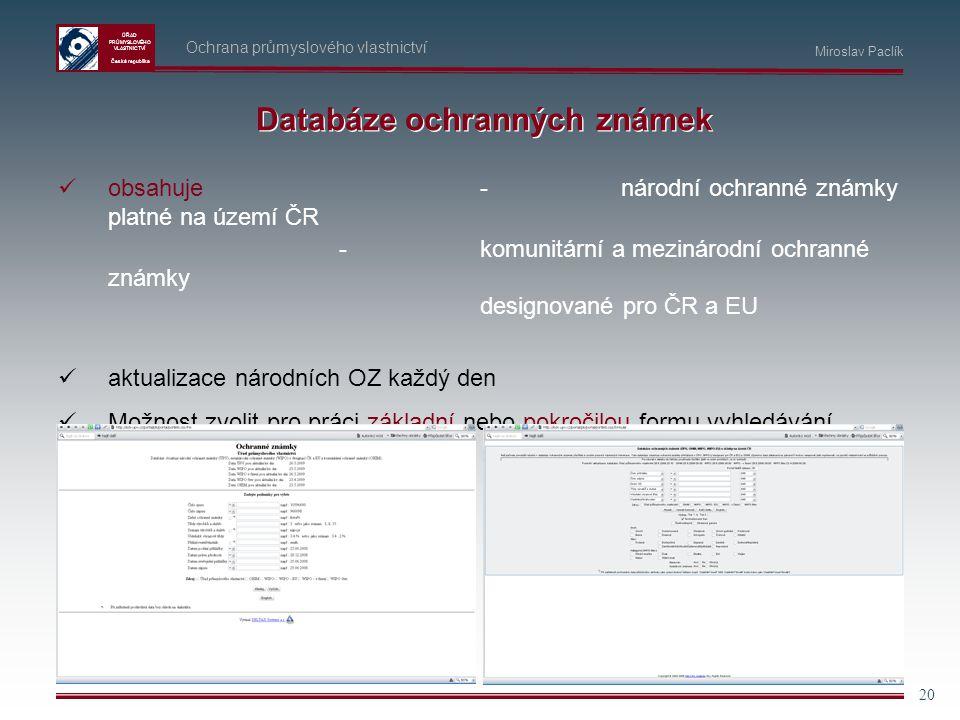 Databáze ochranných známek