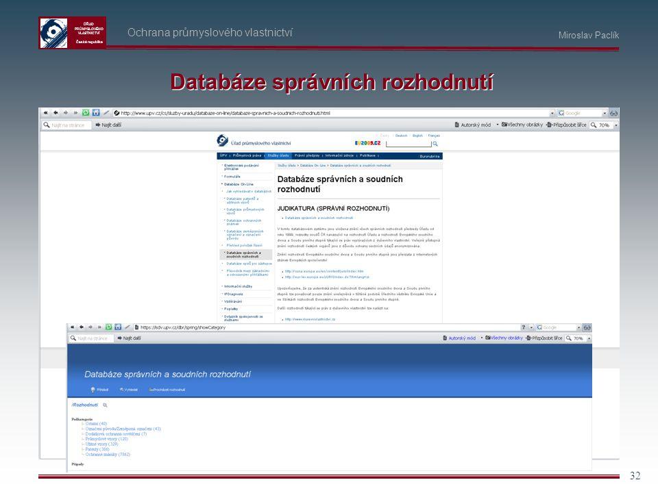 Databáze správních rozhodnutí