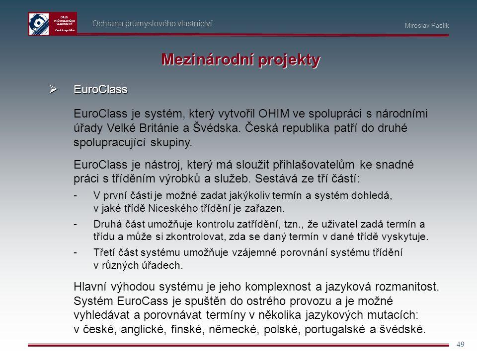 Mezinárodní projekty EuroClass