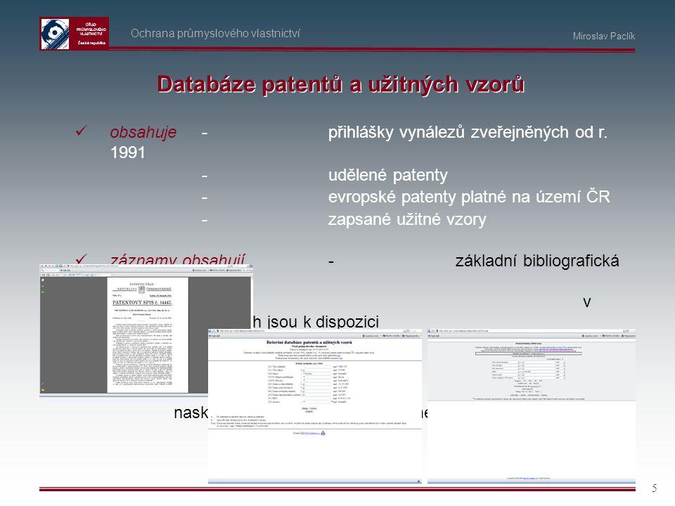 Databáze patentů a užitných vzorů