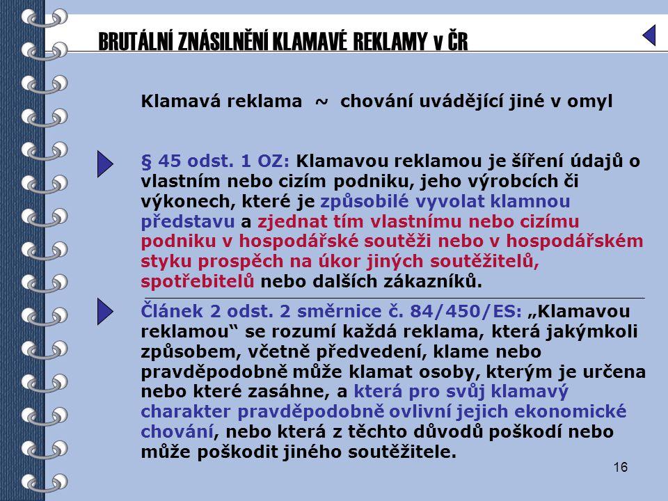 BRUTÁLNÍ ZNÁSILNĚNÍ KLAMAVÉ REKLAMY v ČR