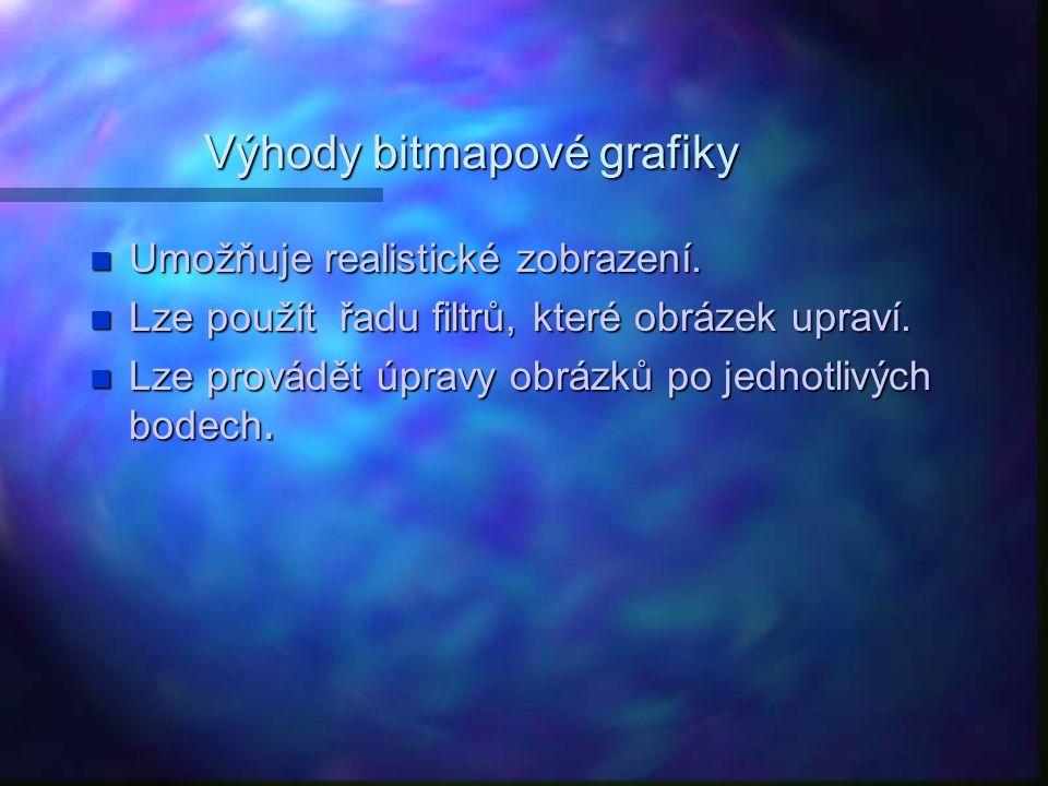 Výhody bitmapové grafiky