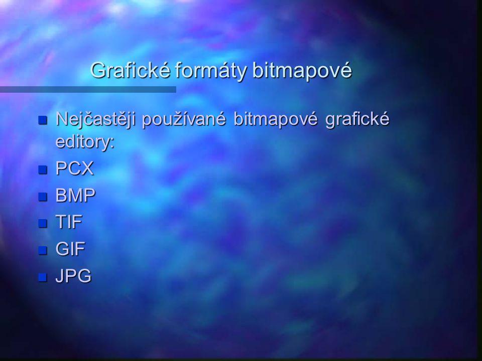 Grafické formáty bitmapové