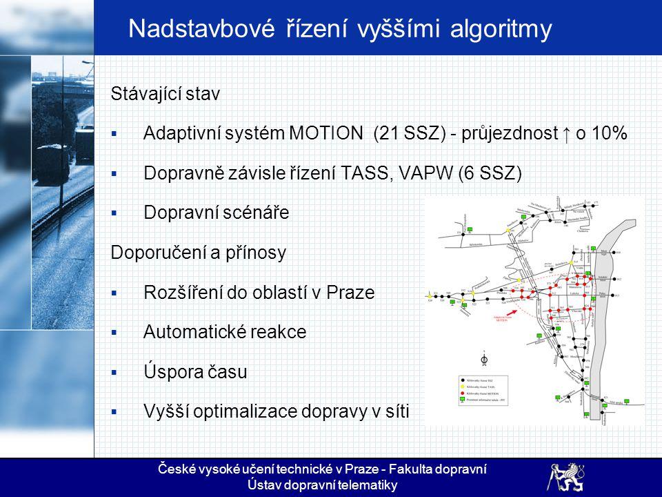 Nadstavbové řízení vyššími algoritmy