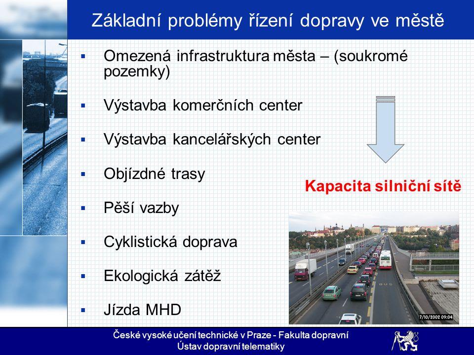 Základní problémy řízení dopravy ve městě