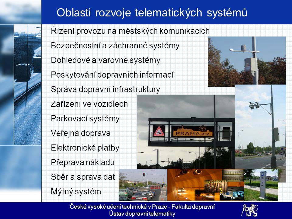 Oblasti rozvoje telematických systémů