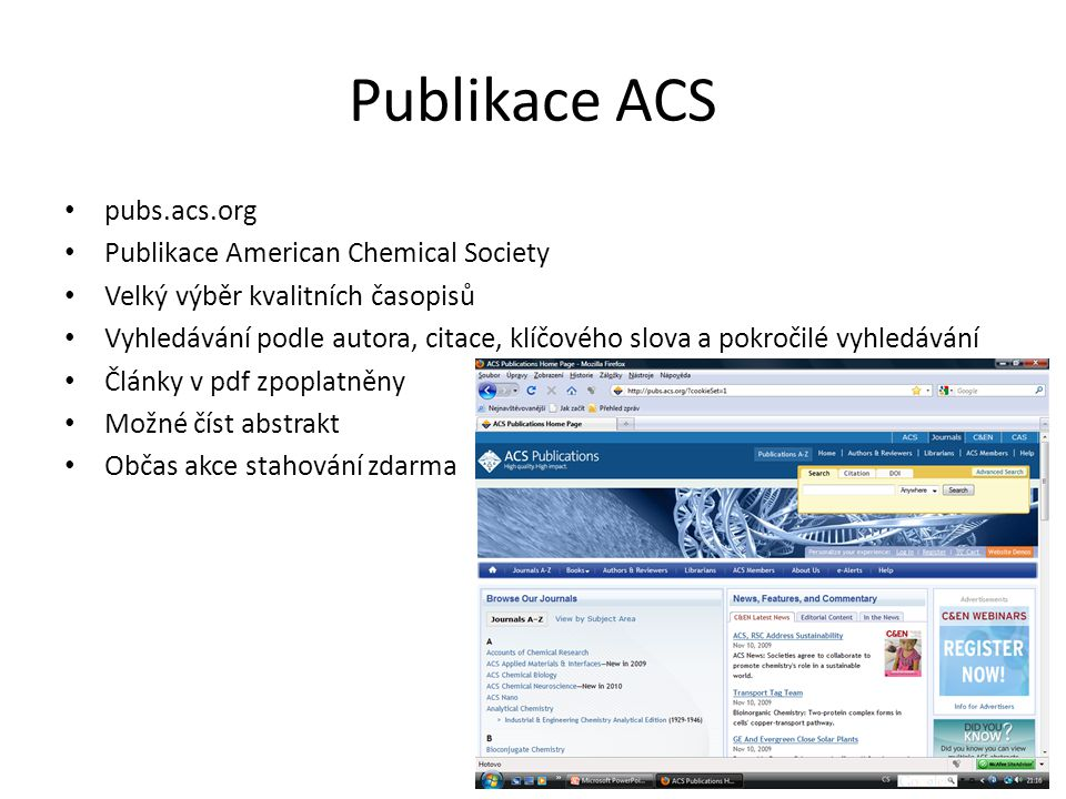 Publikace ACS pubs.acs.org Publikace American Chemical Society