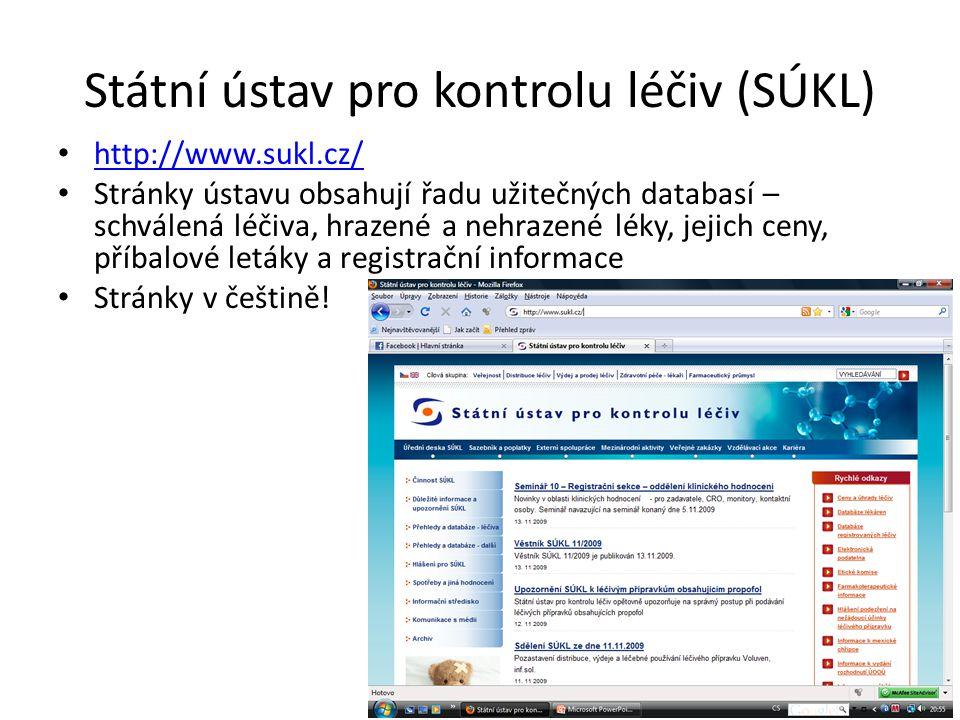 Státní ústav pro kontrolu léčiv (SÚKL)