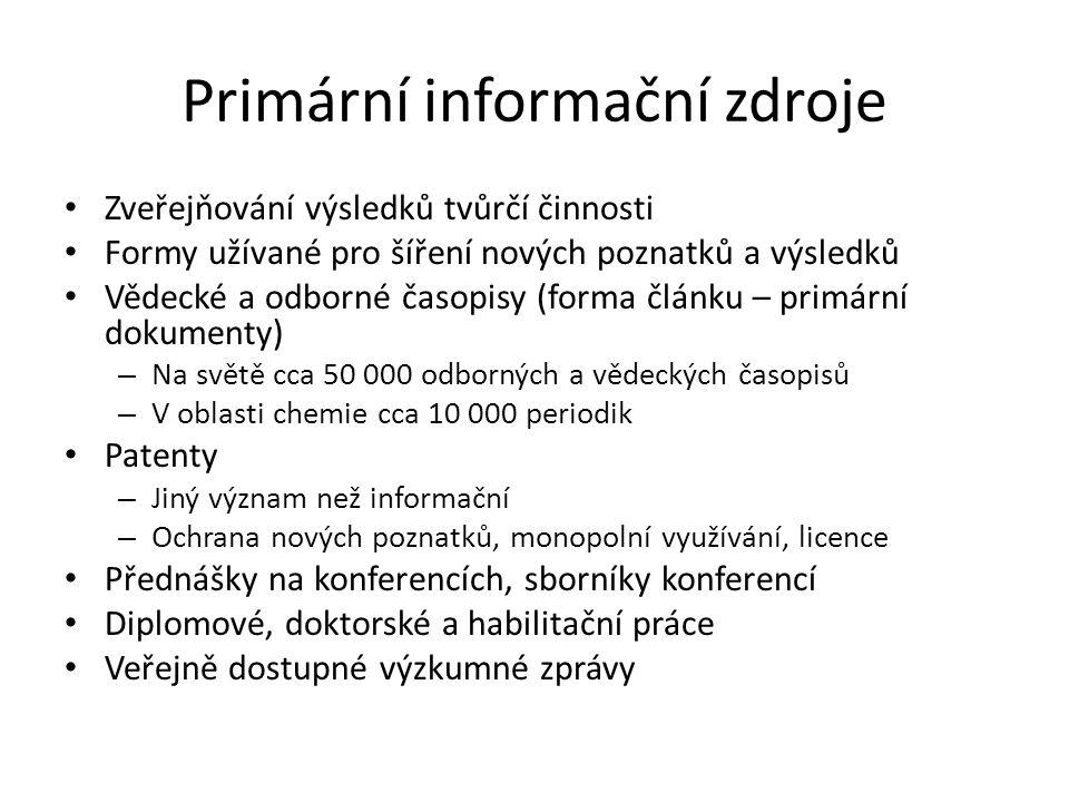 Primární informační zdroje