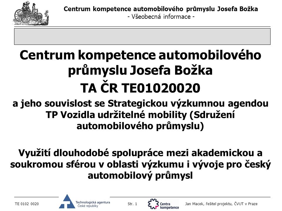 Centrum kompetence automobilového průmyslu Josefa Božka
