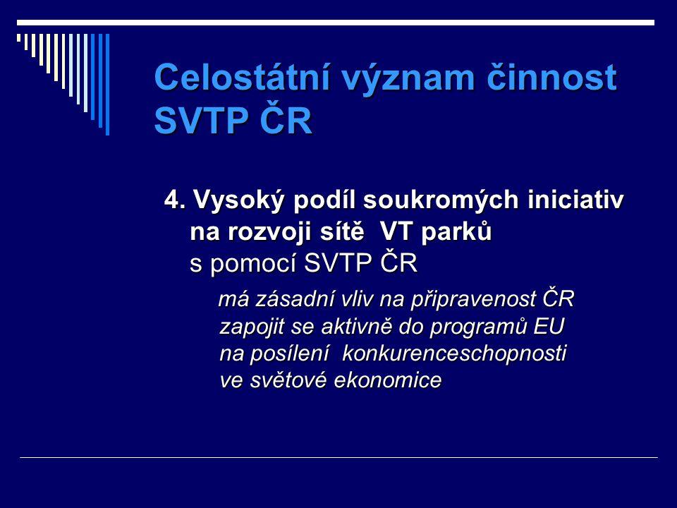 Celostátní význam činnost SVTP ČR