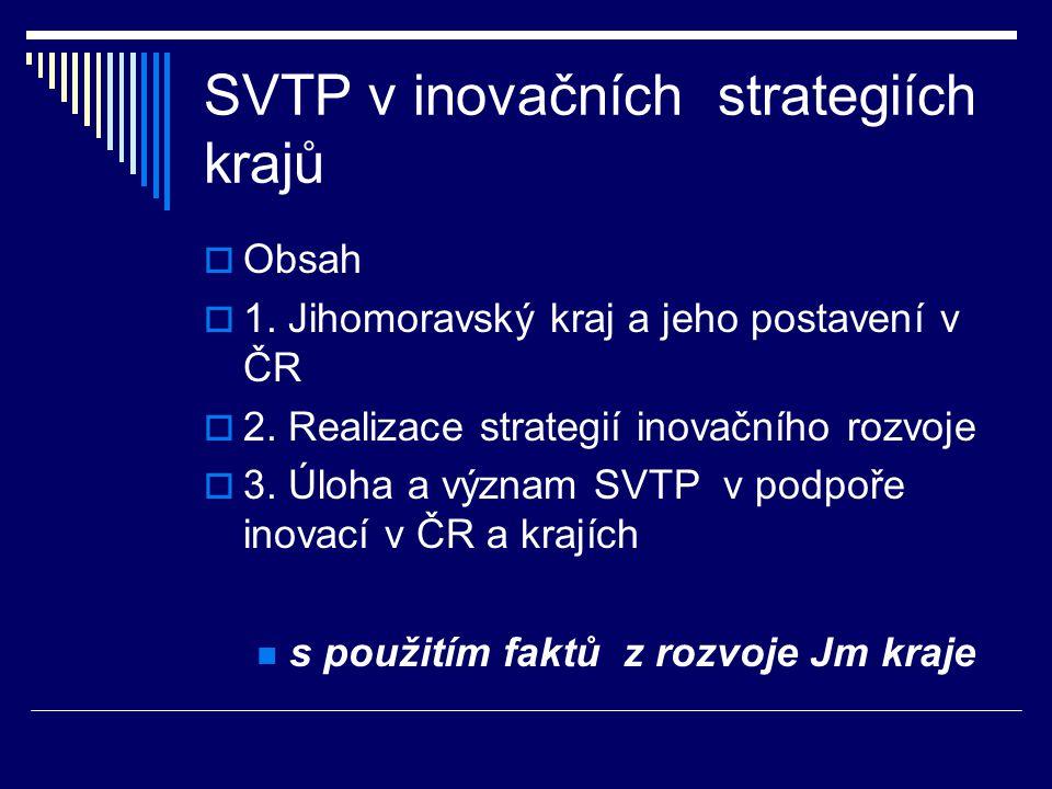 SVTP v inovačních strategiích krajů