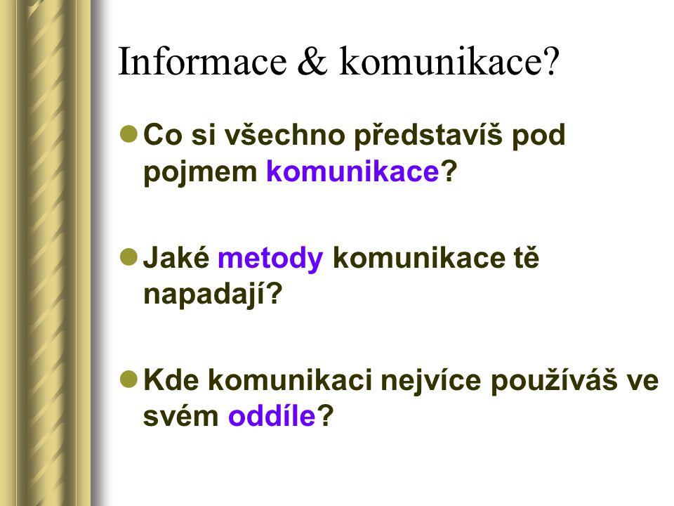 Informace & komunikace