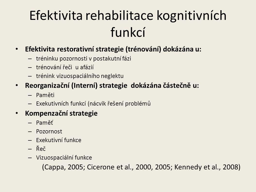 Efektivita rehabilitace kognitivních funkcí