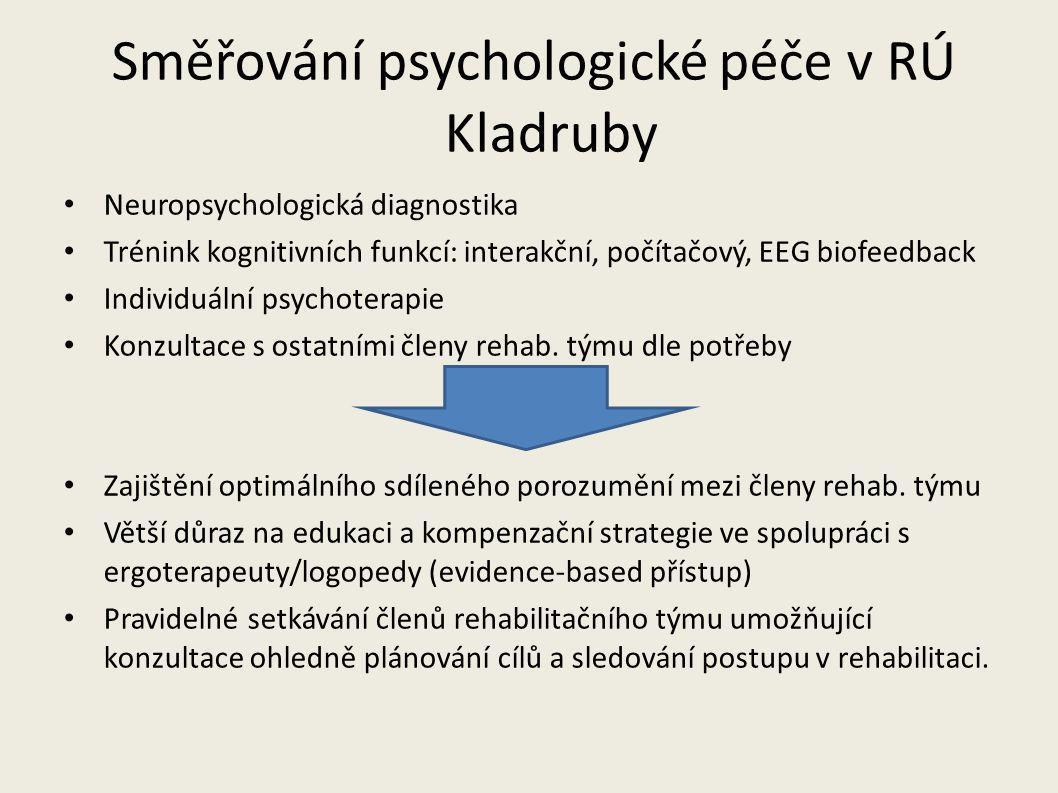 Směřování psychologické péče v RÚ Kladruby