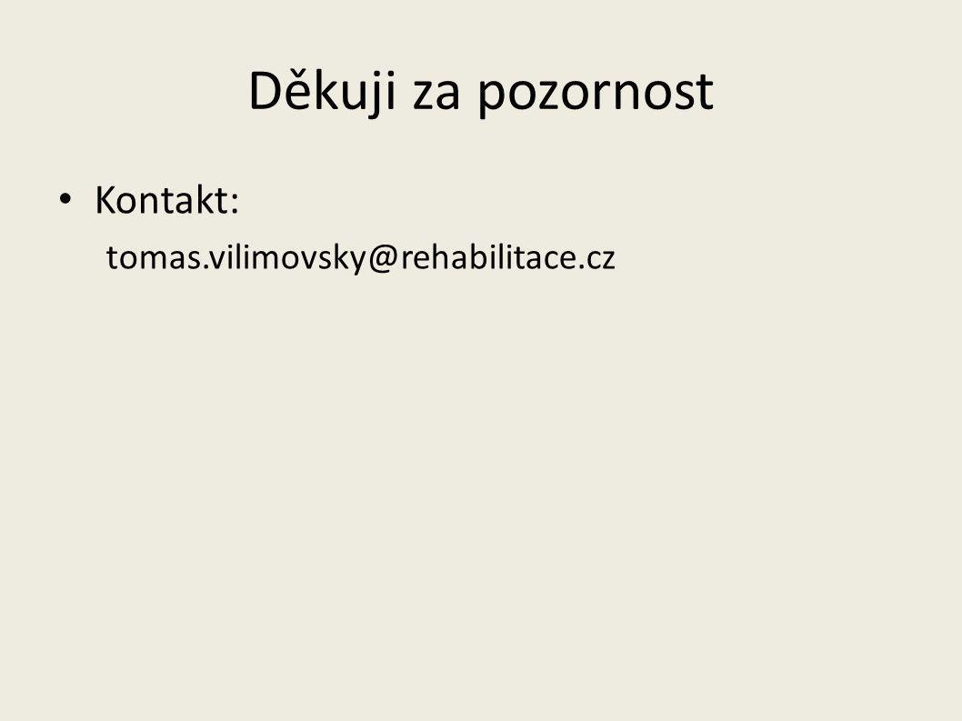 Děkuji za pozornost Kontakt: tomas.vilimovsky@rehabilitace.cz