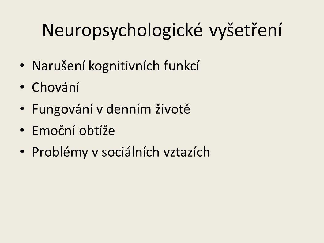 Neuropsychologické vyšetření