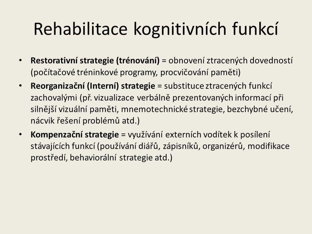 Rehabilitace kognitivních funkcí