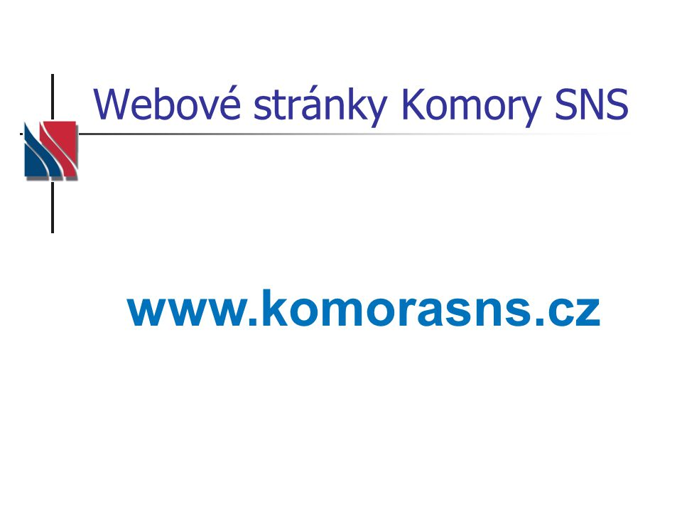 Webové stránky Komory SNS