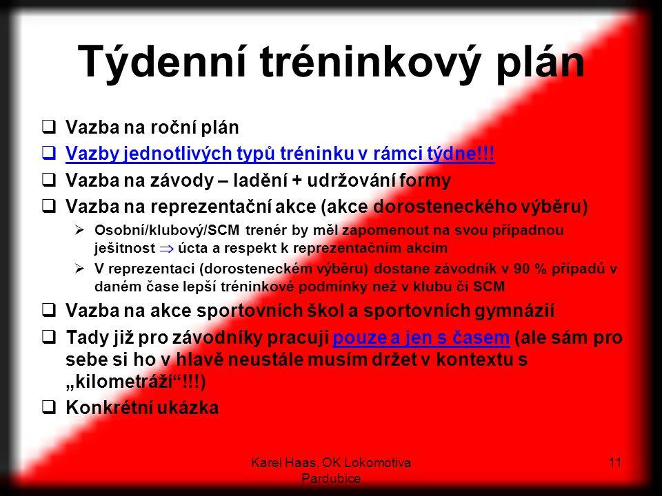 Týdenní tréninkový plán