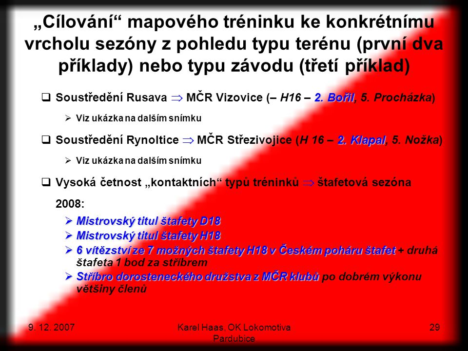 Karel Haas, OK Lokomotiva Pardubice