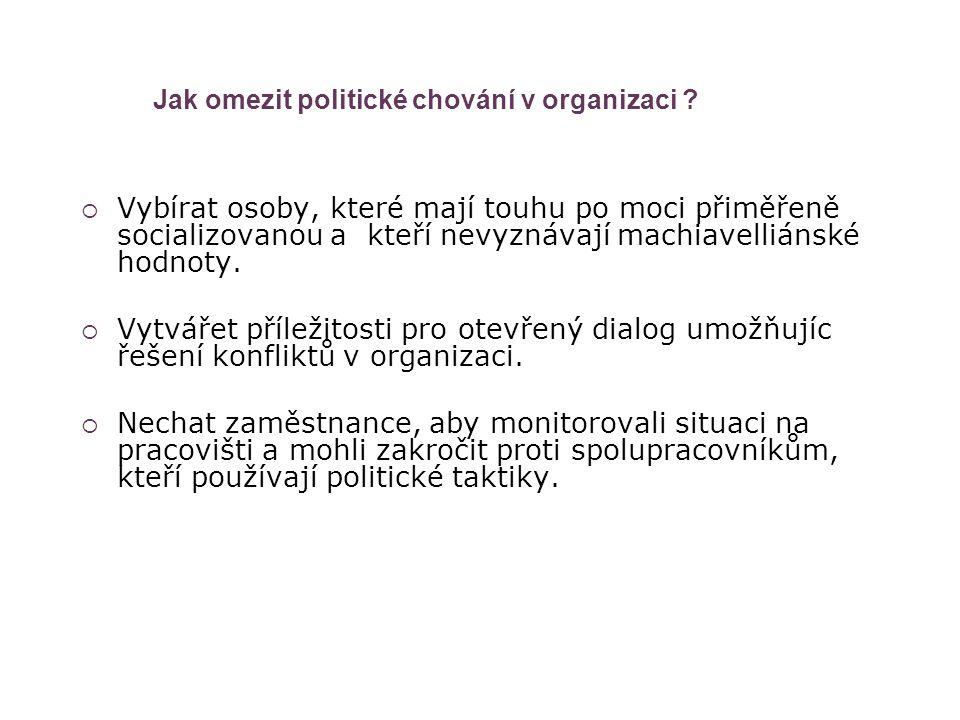 Jak omezit politické chování v organizaci
