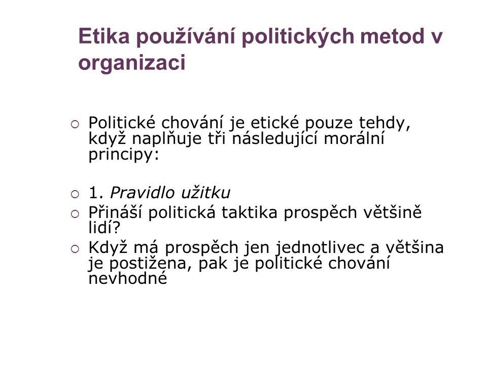 Etika používání politických metod v organizaci
