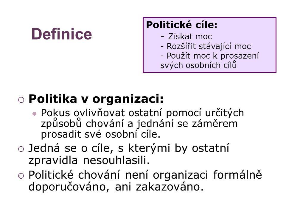 Definice Politika v organizaci: