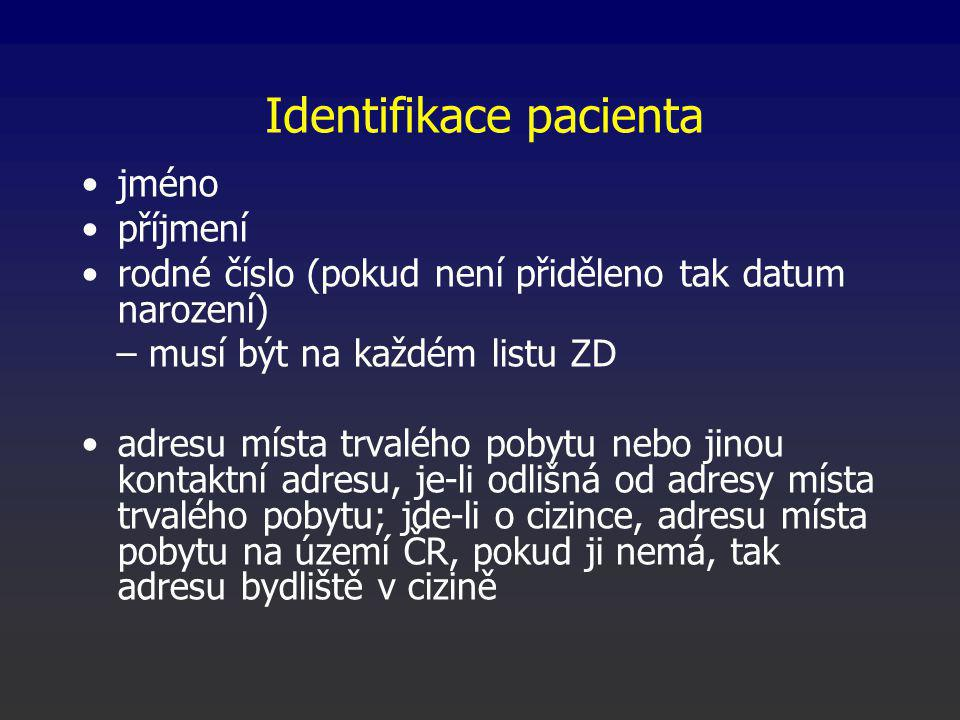 Identifikace pacienta