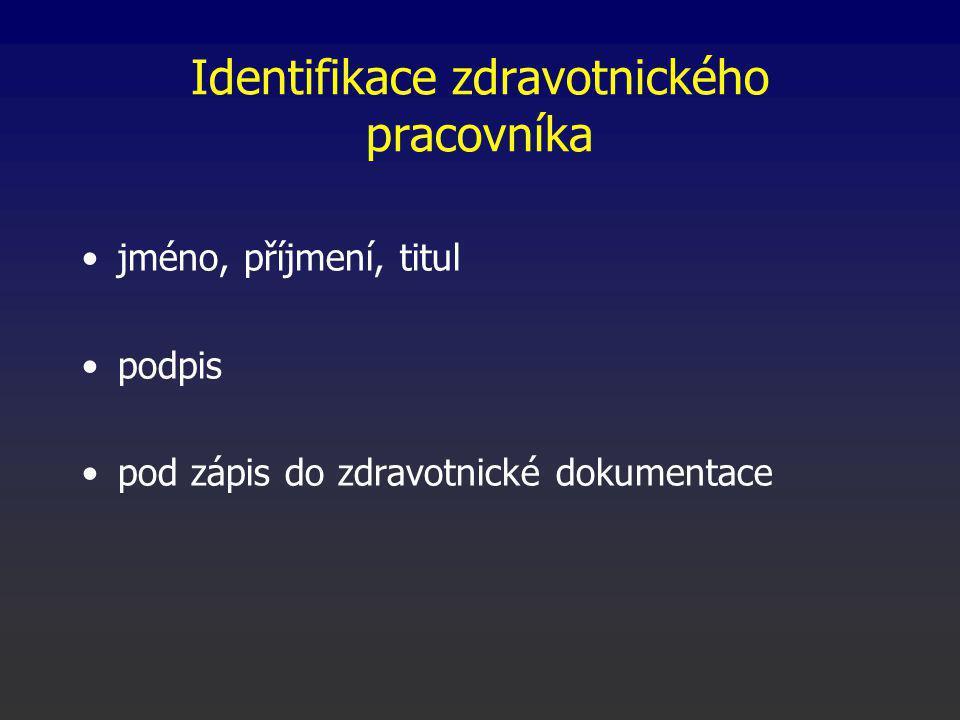 Identifikace zdravotnického pracovníka