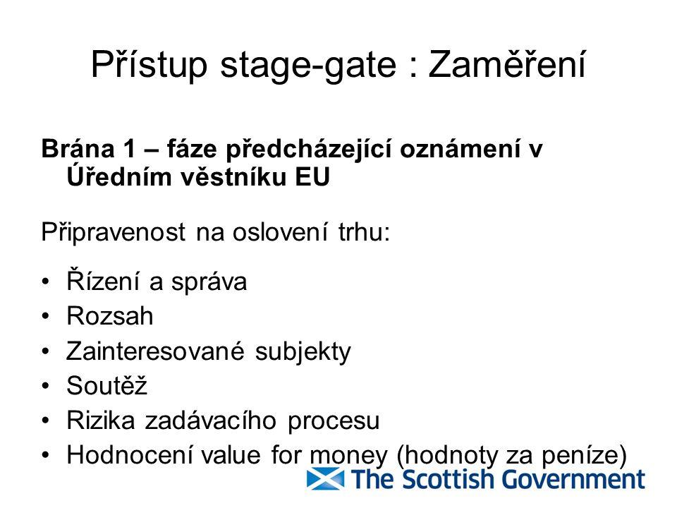Přístup stage-gate : Zaměření