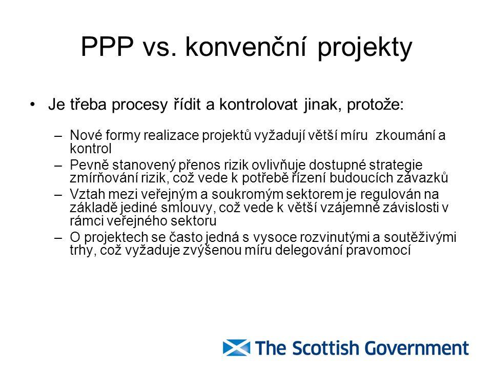 PPP vs. konvenční projekty