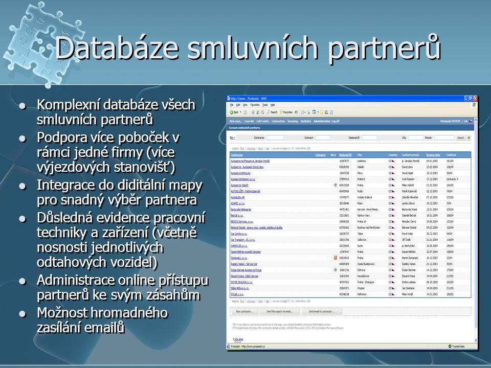 Databáze smluvních partnerů
