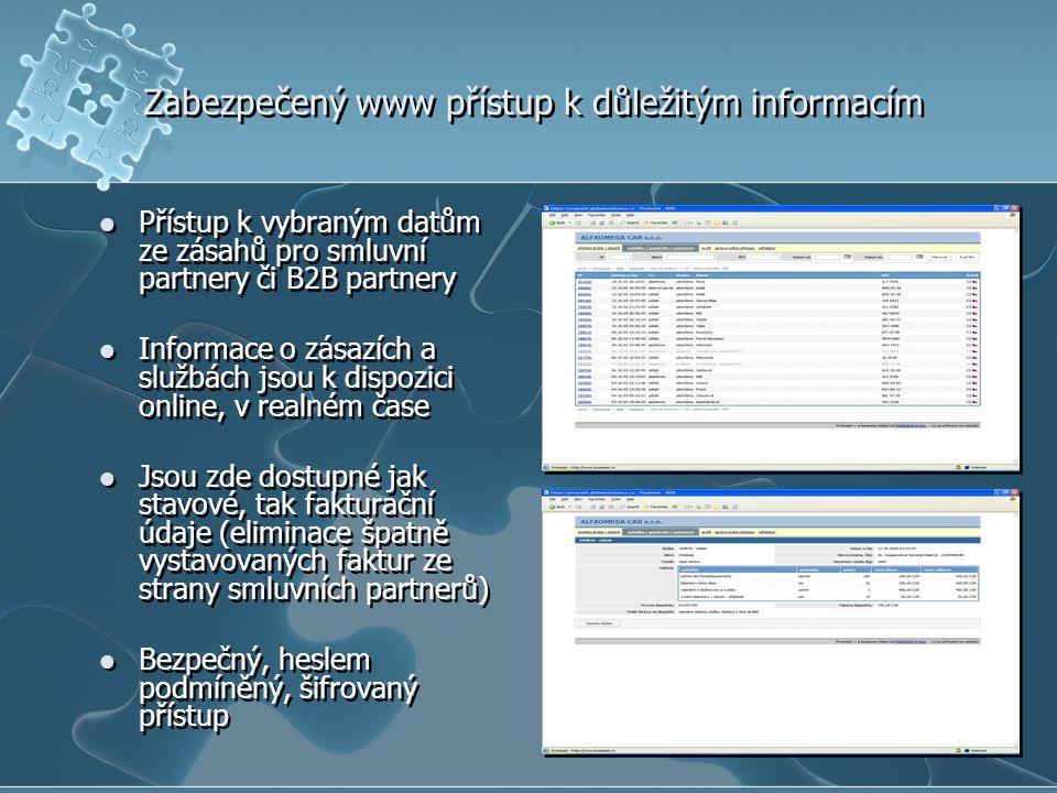 Zabezpečený www přístup k důležitým informacím