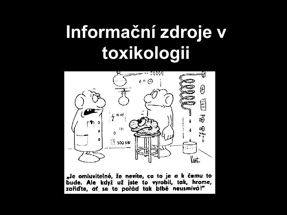 Informační zdroje v toxikologii