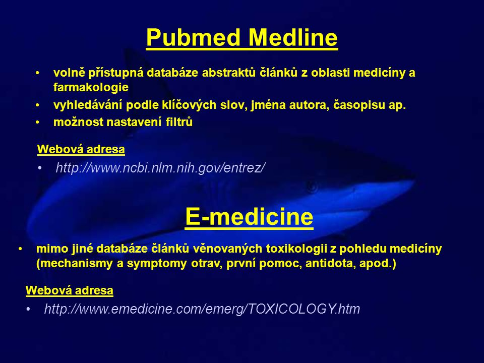 Pubmed Medline E-medicine
