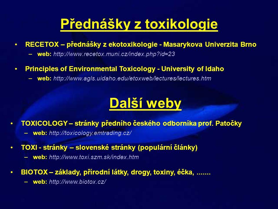 Přednášky z toxikologie