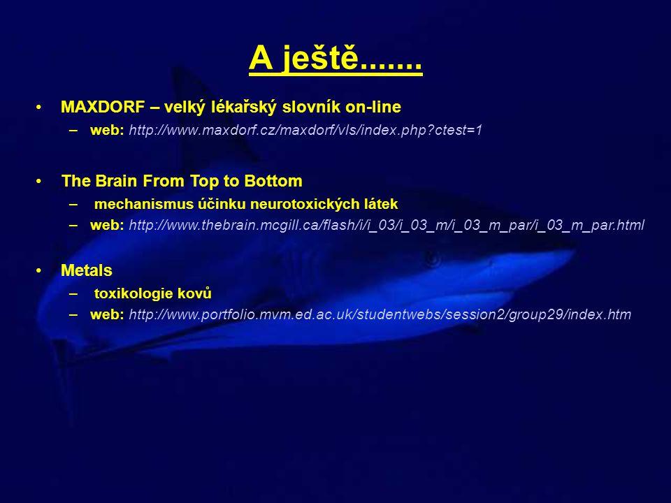A ještě....... MAXDORF – velký lékařský slovník on-line