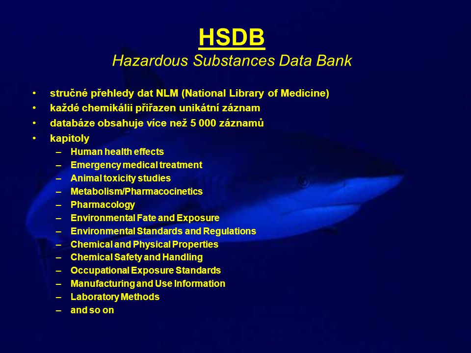 HSDB Hazardous Substances Data Bank