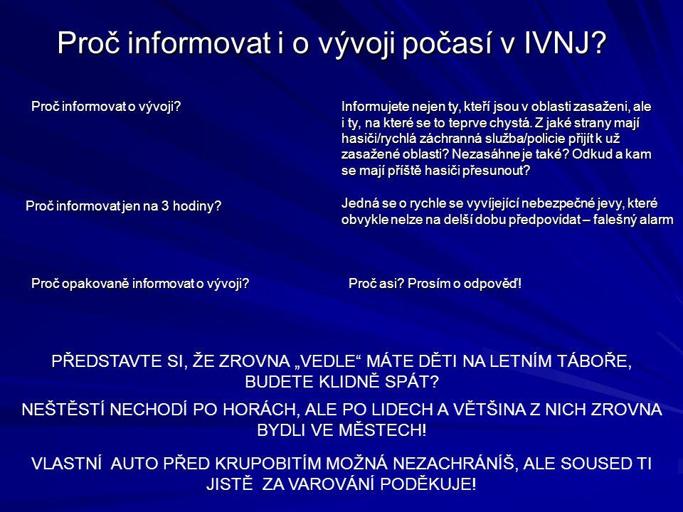 Proč informovat i o vývoji počasí v IVNJ