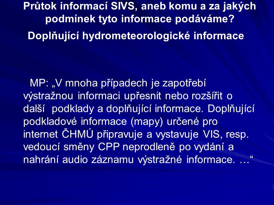Doplňující hydrometeorologické informace