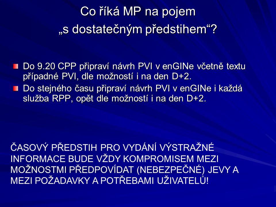 """Co říká MP na pojem """"s dostatečným předstihem"""