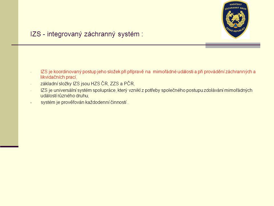 IZS - integrovaný záchranný systém :