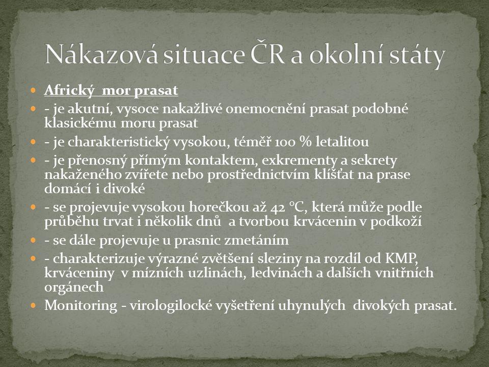 Nákazová situace ČR a okolní státy
